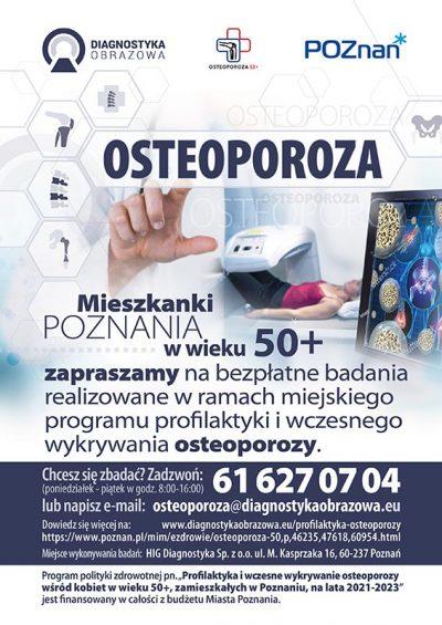 Profilaktyka osteoporozy plakat